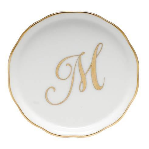 Herend Home Accessories Monogram Coasters - Gold Monogram Coaster - M $25.00