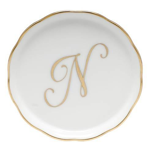 Herend Home Accessories Monogram Coasters - Gold Monogram Coaster - N $25.00