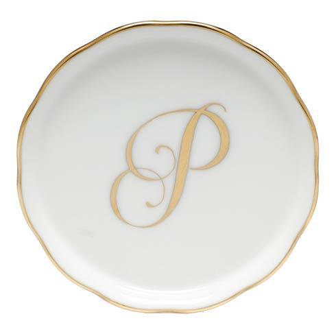 Herend Home Accessories Monogram Coasters - Gold Monogram Coaster - P $25.00