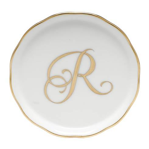 Herend Home Accessories Monogram Coasters - Gold Monogram Coaster - R $30.00