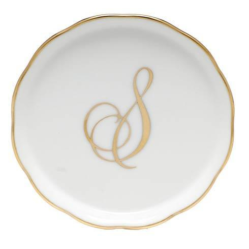 Herend Home Accessories Monogram Coasters - Gold Monogram Coaster - S $30.00