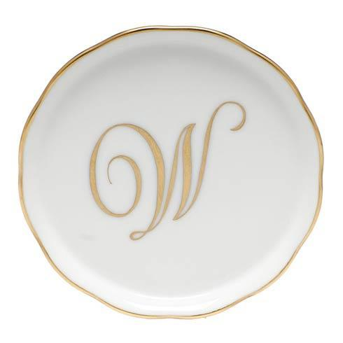 Herend Home Accessories Monogram Coasters - Gold Monogram Coaster - W $25.00