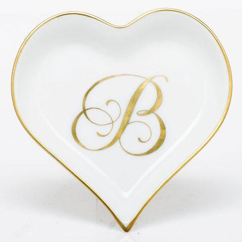 Heart Tray with Monogram - Multicolor image