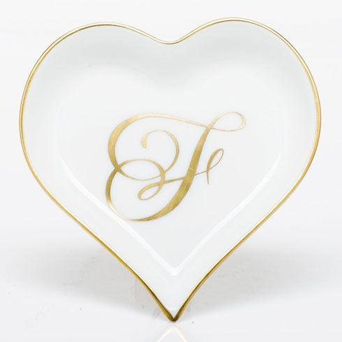 Herend Home Accessories Decorative Dishes Heart Tray with Monogram - Multicolor $85.00