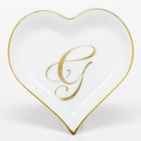 Heart Tray with Monogram - Multicolor