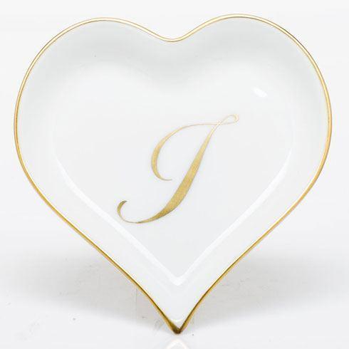 $85.00 Heart Tray with Monogram - Multicolor
