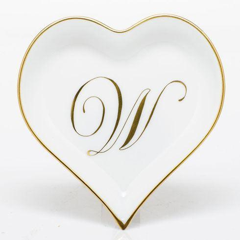 Heart Tray with Monogram - Multicolor