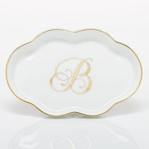 Herend Home Accessories Decorative Dishes Scalloped Tray with Monogram - Multicolor $85.00