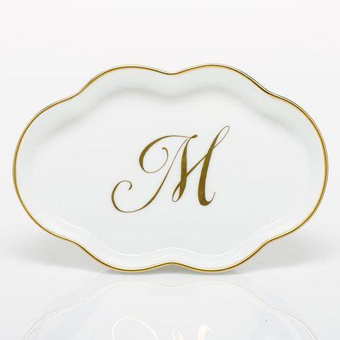 Scalloped Tray with Monogram - Multicolor