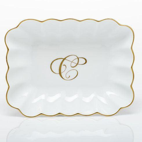 Oblong Dish with Monogram - Multicolor