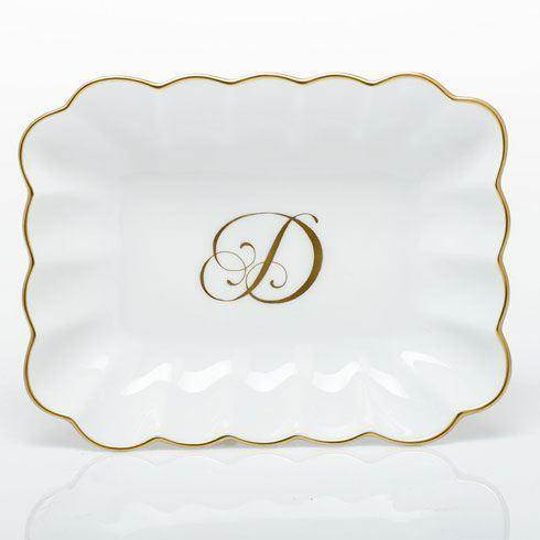 Herend Home Accessories Decorative Dishes Oblong Dish with Monogram - Multicolor $145.00