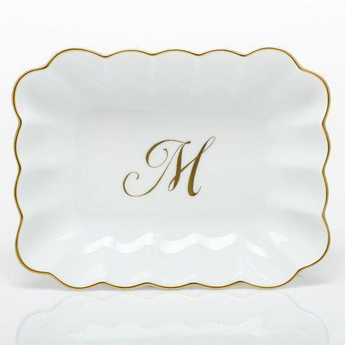 Oblong Dish with Monogram - Multicolor image