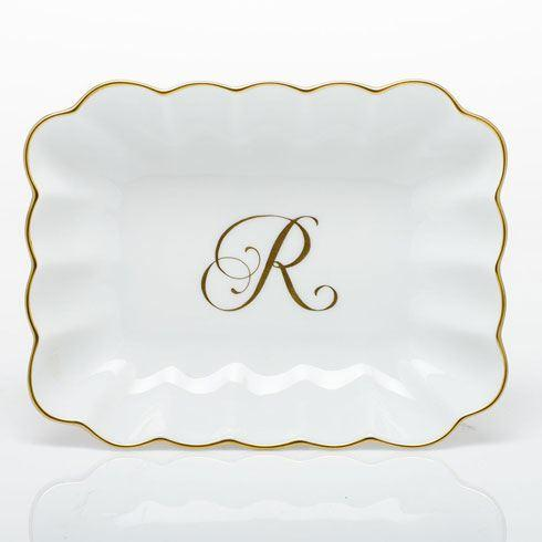 $145.00 Oblong Dish with Monogram - Multicolor