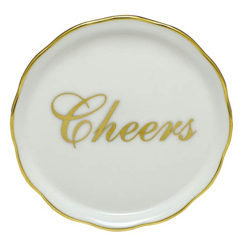 Herend Home Accessories Coasters Cheers Coaster - Multicolor $45.00
