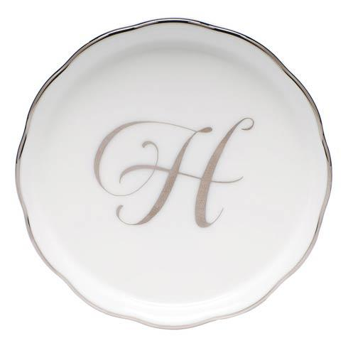 Herend Home Accessories Monogram Coasters - Silver H - Multicolor $25.00