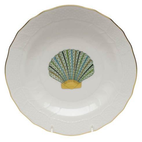 Herend  Aquatic Dessert Plate - Scallop Shell $145.00