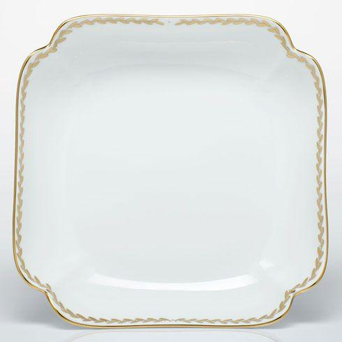 Herend  Golden Laurel Square Fruit Dish $415.00
