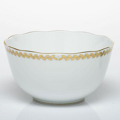 Herend Collections Golden Laurel Round Open Vegetable Dish $235.00