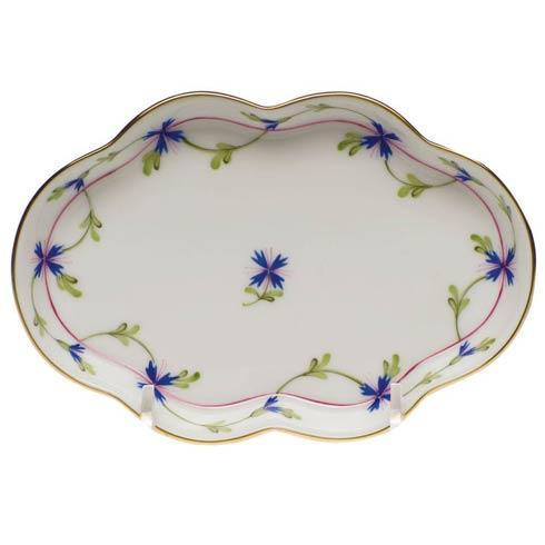 Herend Collections Blue Garland Small Scalloped Tray $95.00