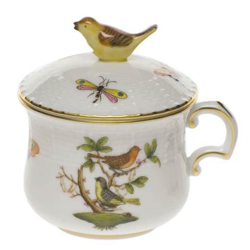 Pot De Creme W/Bird