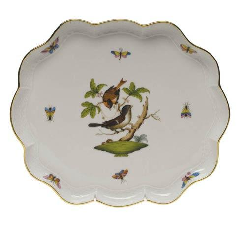 Herend Rothschild Bird Original (no border) Scallop Tray $425.00
