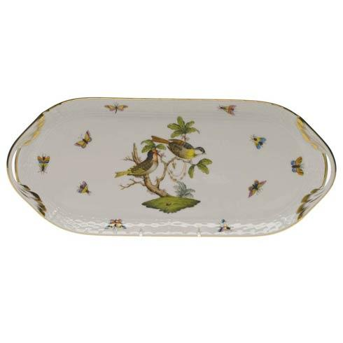 Herend Rothschild Bird Original (no border) Sandwich Tray $360.00