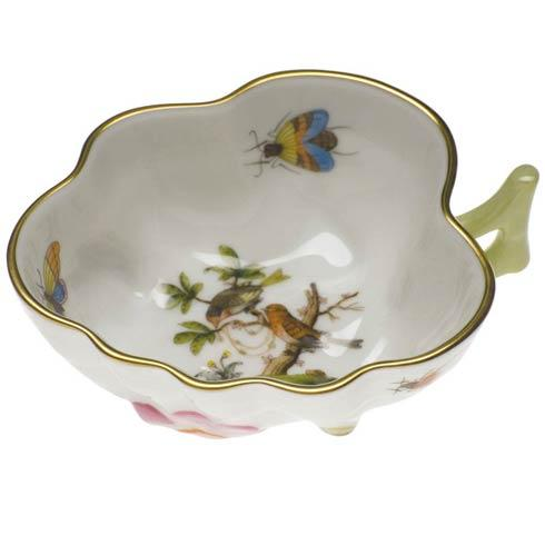 Herend Rothschild Bird Original (no border) Deep Leaf Dish $165.00