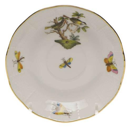 Herend Rothschild Bird Original (no border) After Dinner Saucer $65.00