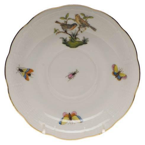 Herend Rothschild Bird Original (no border) Tea Saucer - Motif 09 $70.00