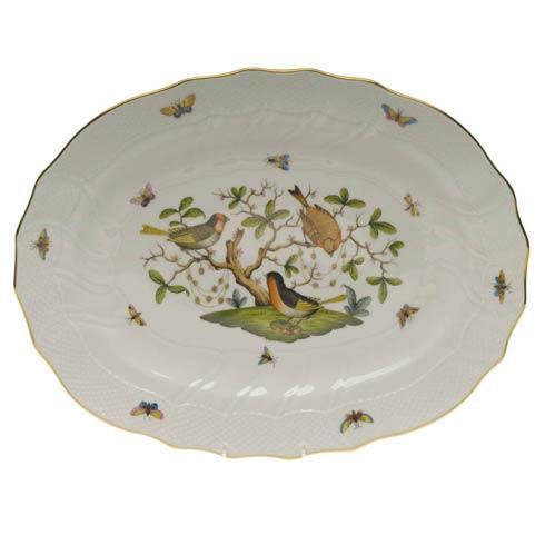 Herend Rothschild Bird Original (no border) Platter $660.00