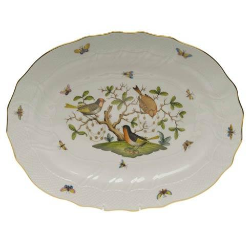 Herend Rothschild Bird Original (no border) Platter $660.00