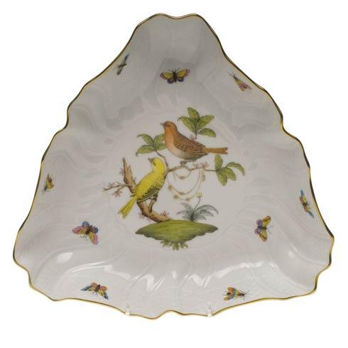 Herend Rothschild Bird Original (no border) Triangle Dish $310.00