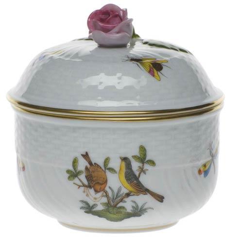 Herend Collections Rothschild Bird Cov Sugar W/Rose $200.00
