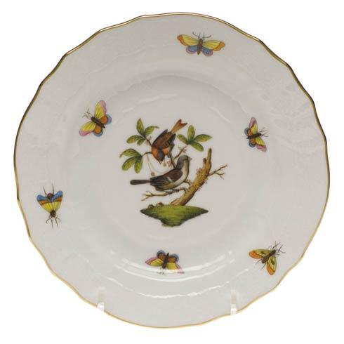Herend Rothschild Bird Original (no border) Bread & Butter Plate - Mo 04 $110.00