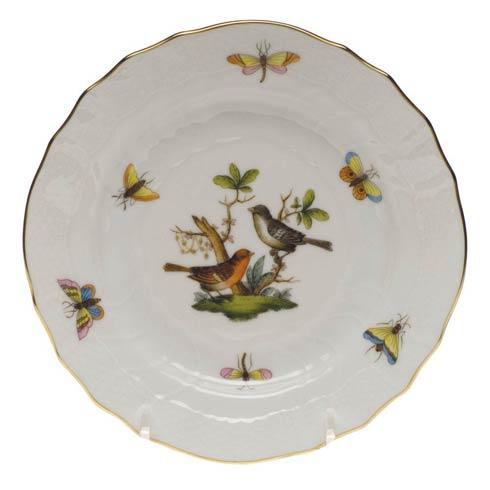 Herend Rothschild Bird Original (no border) Bread & Butter Plate - Mo 05 $110.00