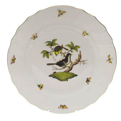 Herend Rothschild Bird Original (no border) Dinner Plate - Motif 01 $175.00