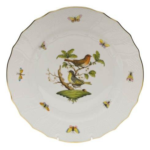 Herend Rothschild Bird Original (no border) Dinner Plate - Motif 03 $175.00