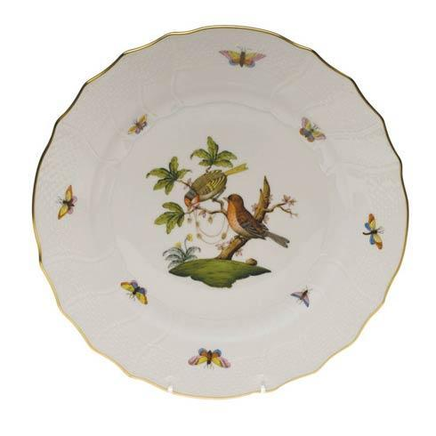Herend Rothschild Bird Original (no border) Dinner Plate - Motif 10 $175.00