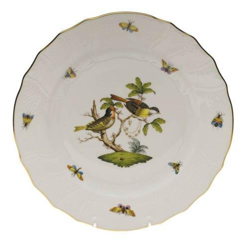 Herend Rothschild Bird Original (no border) Dinner Plate - Motif 11 $175.00