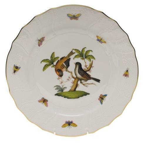 Herend Rothschild Bird Original (no border) Dinner Plate - Motif 12 $175.00
