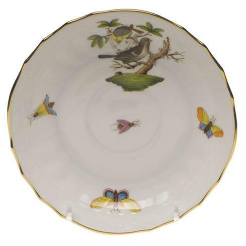 Herend Rothschild Bird Original (no border) Canton Saucer - Motif 01 $70.00