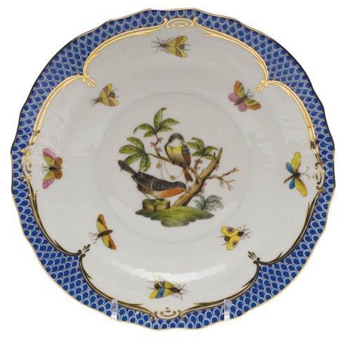 Herend Rothschild Bird Blue Border Salad Plate - Motif 02 $320.00