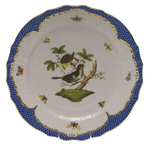 Herend Rothschild Bird Blue Border Service Plate - Motif 01 $540.00