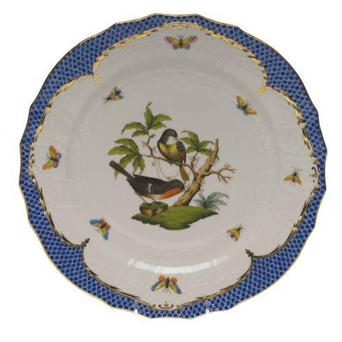 Herend Rothschild Bird Blue Border Service Plate - Motif 02 $540.00