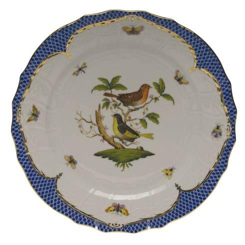 Herend Rothschild Bird Blue Border Service Plate - Motif 03 $540.00