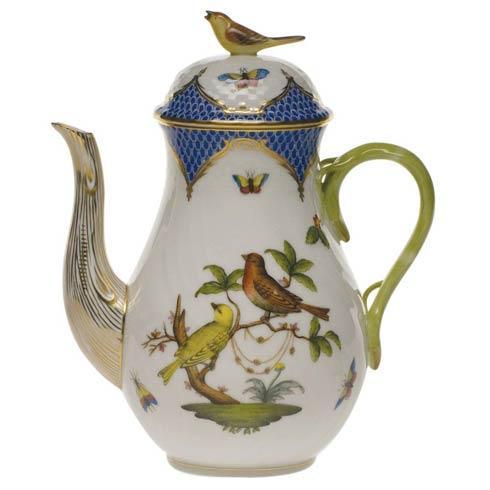 Herend Rothschild Bird Blue Border Coffee Pot W/Bird $825.00