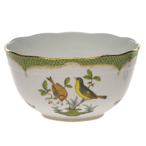 Herend Collections Rothschild Bird Green Border Round Bowl $455.00