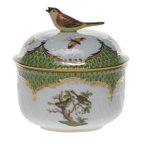 Herend Collections Rothschild Bird Green Border Cov Sugar W/Bird $435.00