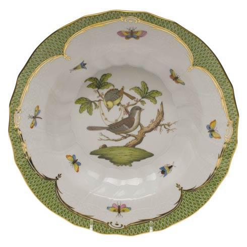Herend Collections Rothschild Bird Green Border Rim Soup - Motif 01 $455.00