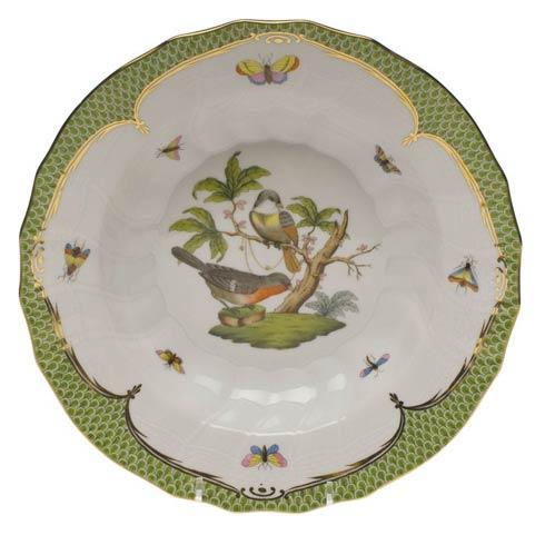 Herend Collections Rothschild Bird Green Border Rim Soup - Motif 02 $455.00